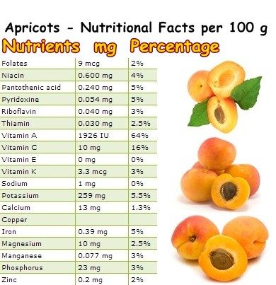 Nutritional Facts apricots