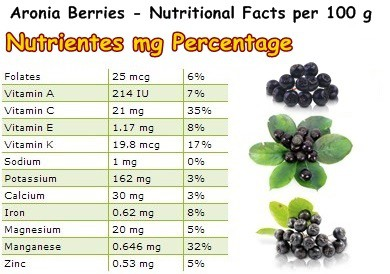 Nutritional Facts Aronia berries