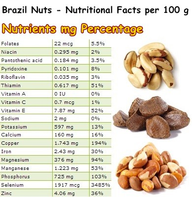 Nutritional Facts Brazil Nut