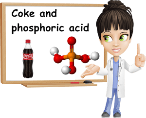Coke phosphoric acid