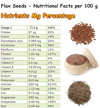 Nutritional Facts Flax Seeds