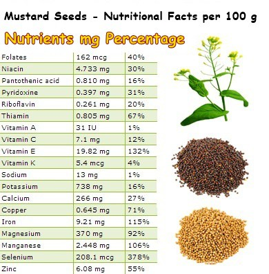 Nutritional Facts Mustard Seeds