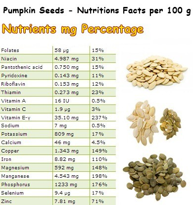 pumpkin nutrients facts