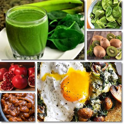 Iron rich anemia foods