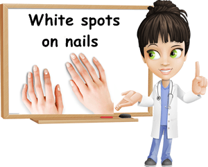 White spots causes