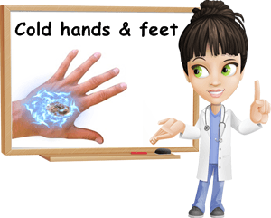 Cold hands and feet causes
