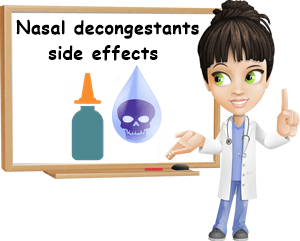 Nasal decongestants side effects