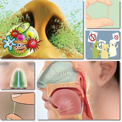 Nose mucus color