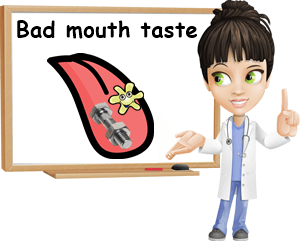 Bad taste in mouth causes