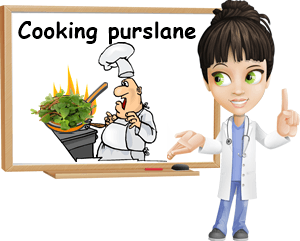 Cooking purslane