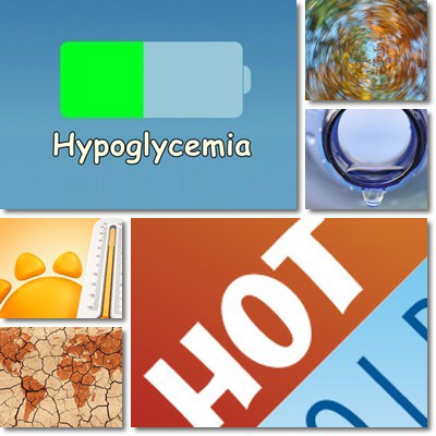 hypoglycemia dehyration and high temperature