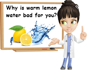 warm lemon water side effects