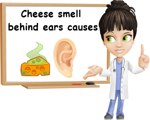 Cheese smell behind ears causes