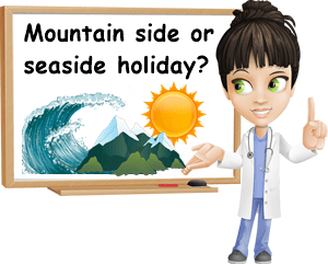 Seaside or mountains holiday