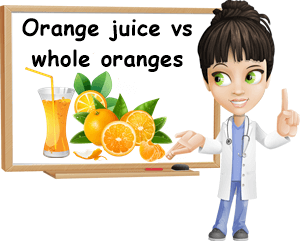 Orange juice vs whole oranges