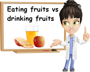 Eating fruits vs drinking fruits
