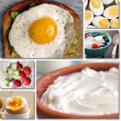 Yogurt vs eggs breakfast