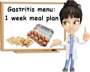 Gastritis menu