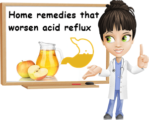 Home remedies that make acid reflux worse