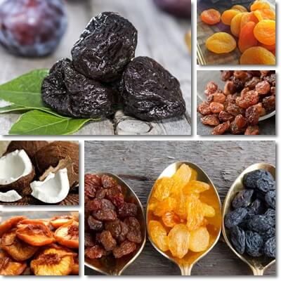 Unhealthy dried fruit
