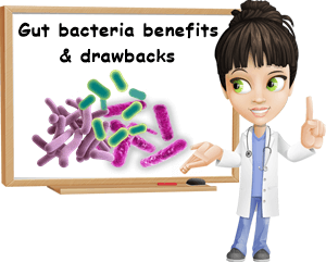 Gut bacteria benefits and drawbacks