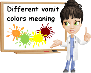 Vomit colors meaning
