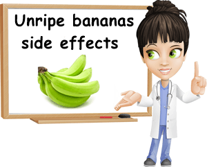 Unripe bananas side effects