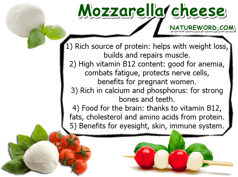 Mozzarella health facts