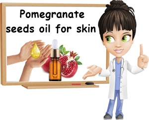 Pomegranate oil skin