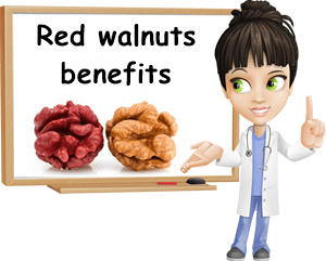Red walnuts health benefits