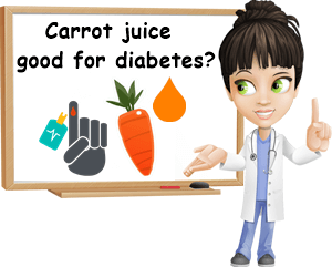 Carrot juice good for diabetes