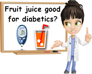 Fruit juice good for diabetics