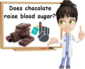Chocolate raises blood sugar