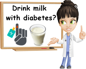 Drink milk with diabetes