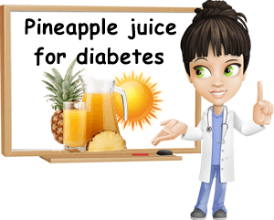 Pineapple juice benefits for diabetes