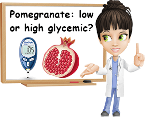 Pomegranate low high glycemic