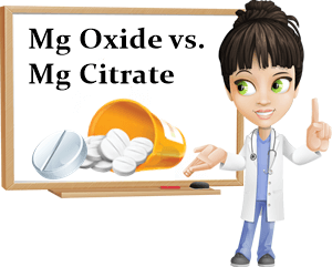 Magnesium oxide vs citrate absorption