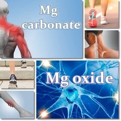 Magnesium carbonate versus oxide