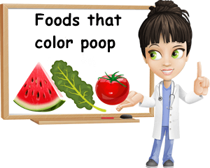 Foods that color poop