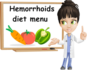 Hemorrhoids diet menu