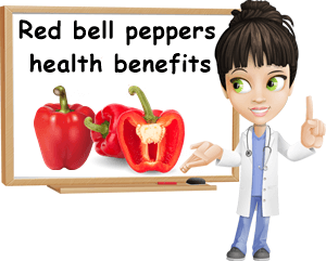 Red bell peppers health benefits