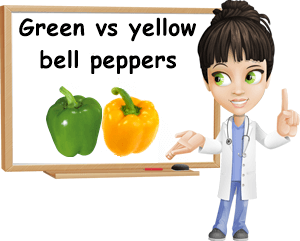 Green versus yellow bell pepper