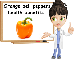 Orange bell peppers benefits