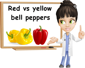 Red versus yellow bell pepper
