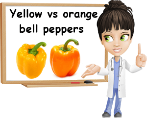 Yellow versus orange bell pepper