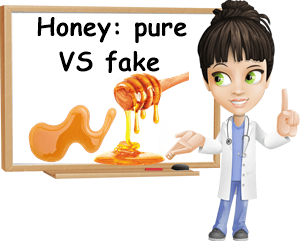 Pure vs fake honey difference