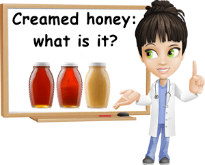 What is creamed honey
