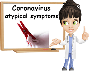 Coronavirus atypical symptoms