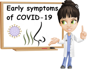 Early symptoms of COVID-19