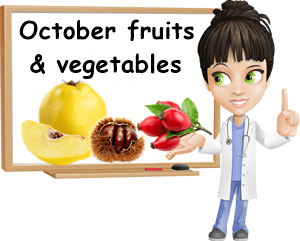October fruits and vegetables